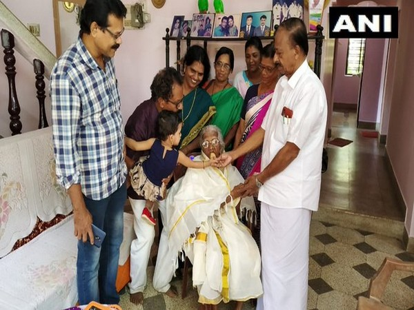 105-year-old Bageerathi Amma in Thiruvananthpuram in Kerala