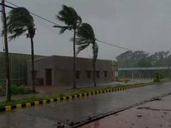 Paradip in Odisha received rainfall on Wednesday morning ahead of cyclone Amphan making landfall [Photo/ANI]