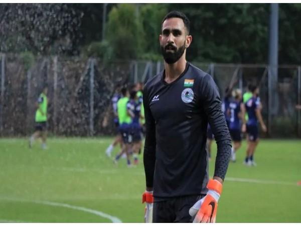 ATK Mohun Bagan goalkeeper Amrinder (Image: atkmohunbaganfc Twitter)