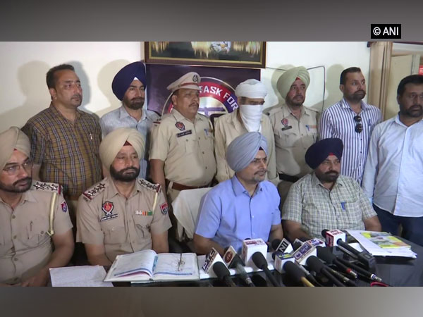 Assistant Inspector-General of STF Rashpal Singh briefing media on Saturday. Photo/ANI