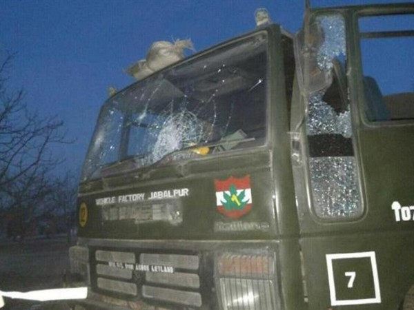 A vehicle of 55 Rashtriya Rifle (RR) was targeted by an Improvised Explosive Device (IED) .