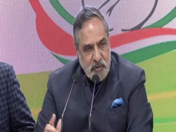 Congress leader Anand Sharma speaking at a press conference in New Delhi on Friday. Photo/ANI