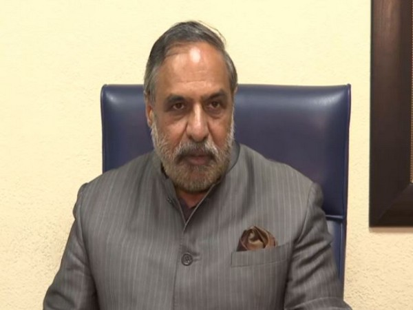 Congress leader Anand Sharma speaking to reporters in New Delhi on Thursday. (Photo/ANI)