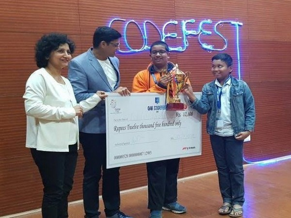 Anand and Bhuvan, winners of the junior category Codefest 2019