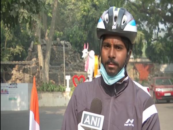 Cyclist Anand Goud (ANI)
