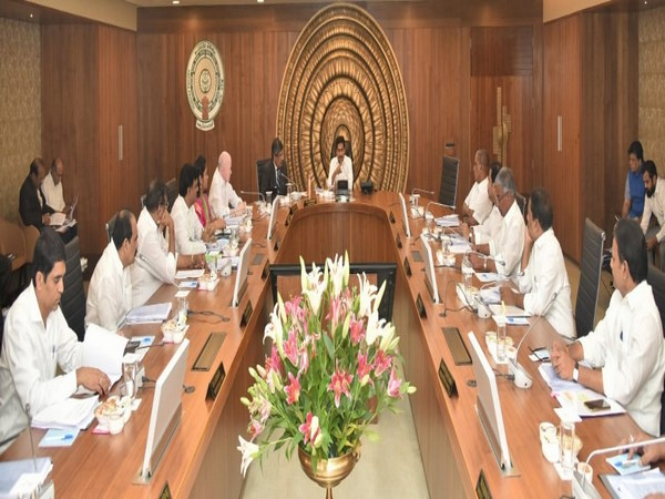 A visual from Andhra Pradesh Cabinet meeting on Wednesday. Photo/ANI
