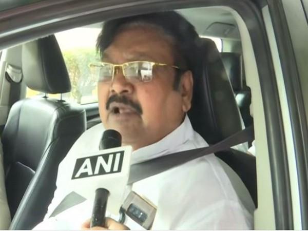 TDP leader Varla Ramaiah speaking to ANI in Vijayawada on Saturday. Photo/ANI