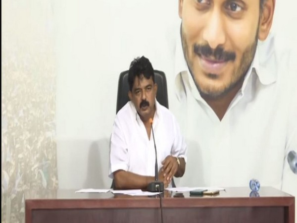 Andhra Pradesh Transport and Information and Public Relation Minister Perni Venkataramaiah speaking during press conference in Andhra Pradesh on Saturday. Photo/ANI