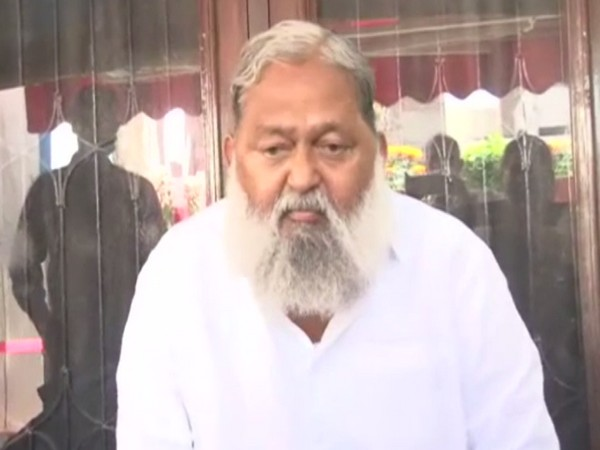 Haryana Home Minister Anil Vij speaking on the issue of G-23 on Sunday.