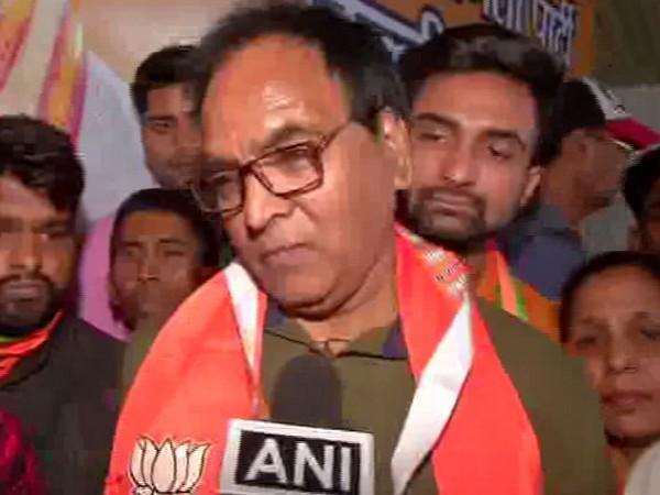 AAP MLA from Gandhi Nagar Anil Bajpai joins BJP on Friday. Photo/ANI