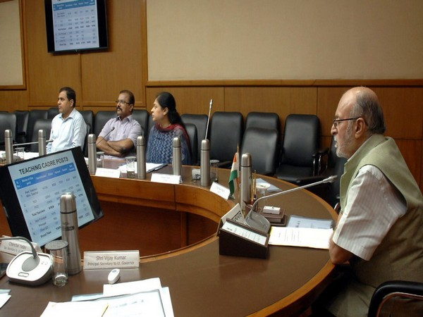 Delhi L-G Anil Baijal during Monday's meeting. (Source Twitter)