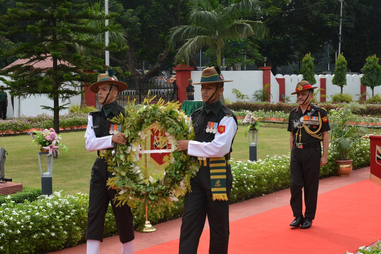 Lt Gen Anil Chauhan on Sunday assumed charge as Eastern Army Commander (Picture tweeted by Eastern Command)