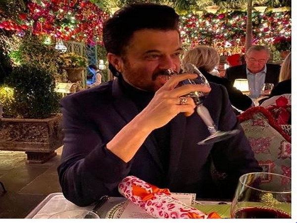 Anil Kapoor feasting on a beverage on his Birthday eve (Image Source: Instagram)