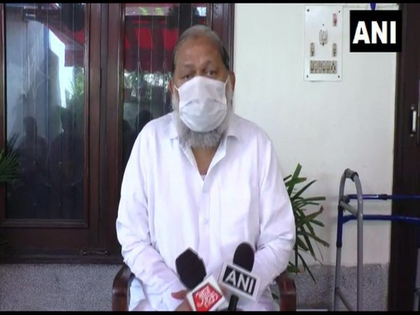 Haryana Home Minister Anil Vij speaking to reporters in Haryana on Saturday. Photo/ANI