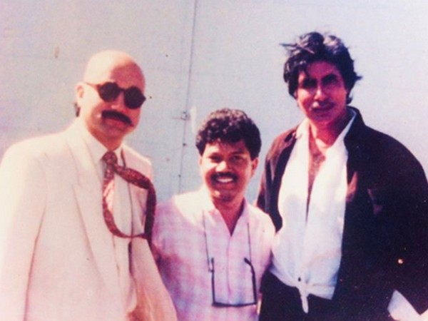 Actors Anupam Kher and Amitabh Bachchan with director Mukul Anand (Image Source: Instagram)