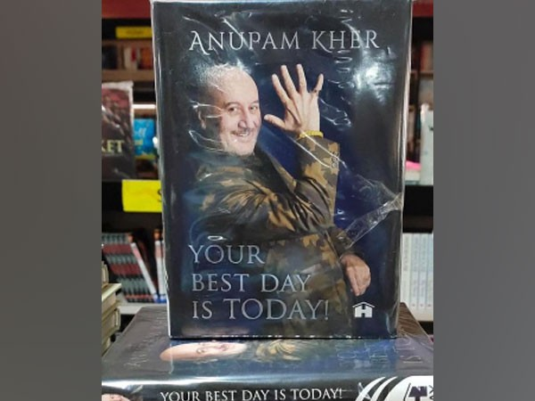 Actor Anupam Kher's book 'Your Best Day is Today' (Image Source: Instagram)