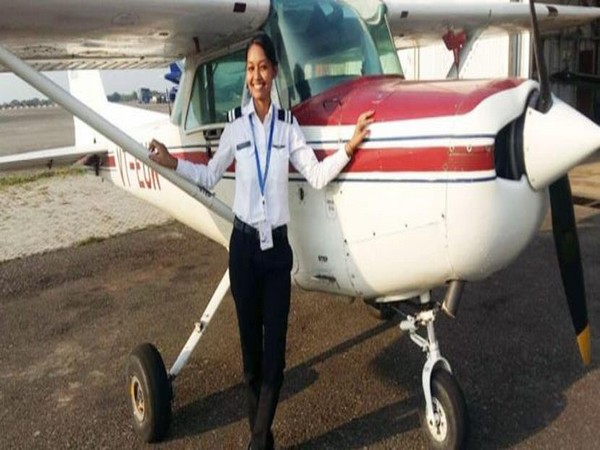 Anupriya Lakra, the first female commercial pilot from tribal area in Odisha. (Photo credit: Twitter)