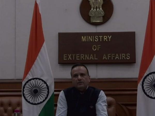 MEA spokesperson Anurag Shrivastava speaking during an online press briefing about the Vande Bharat Mission. Photo/ANI