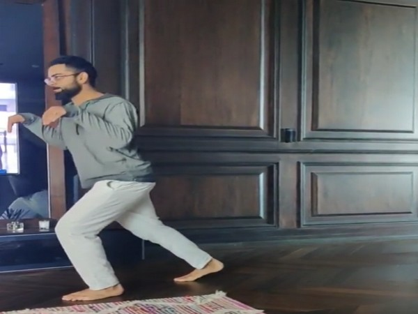 A still from the video shared by actor Anushka Sharma featuring cricketer husband Virat Kohli (Image source: Instagram)