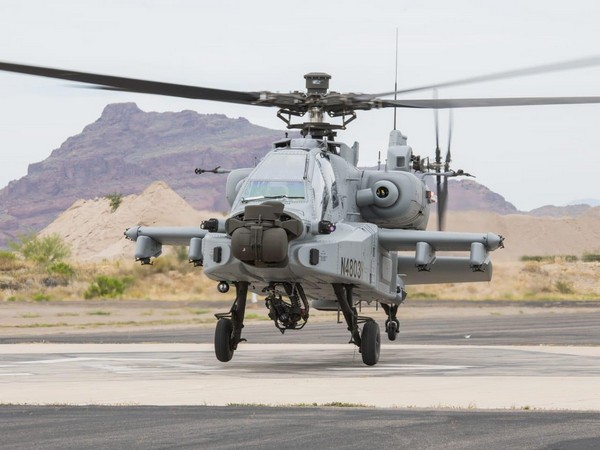 Apache attack choppers procured from America will be inducted into IAF on Tuesday. Photo/ANI