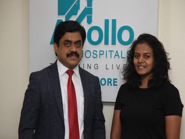 Bhagyashree with Dr Raviraj Nayak, Senior consultant and Orthopedic Surgeon