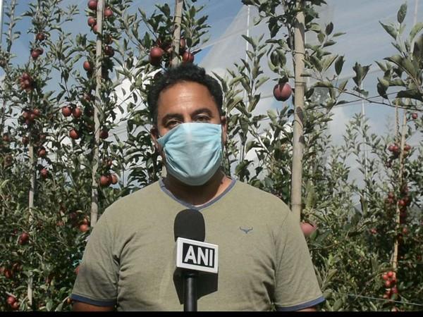 Horticulture Officer, Anantnag, Asif Hussain Bodha, speaking to ANI on Friday. Photo/ANI