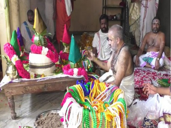 A three-day long 'Pavithrotsavams' ritual began at Kanaka Durga Temple in Vijaywada on Sunday.