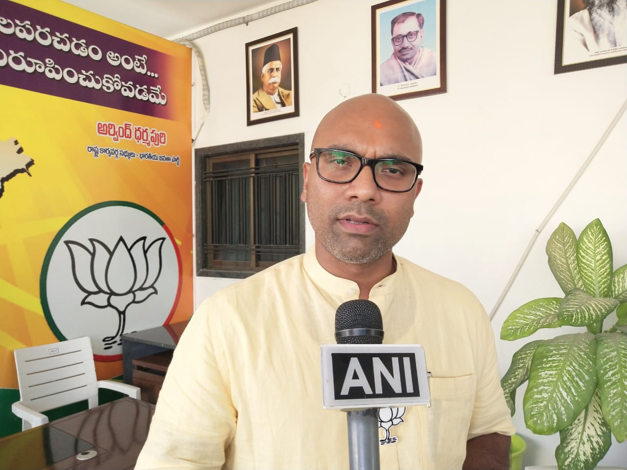 BJP candidate from Nizamabad D Aravind speaking to ANI on Friday.