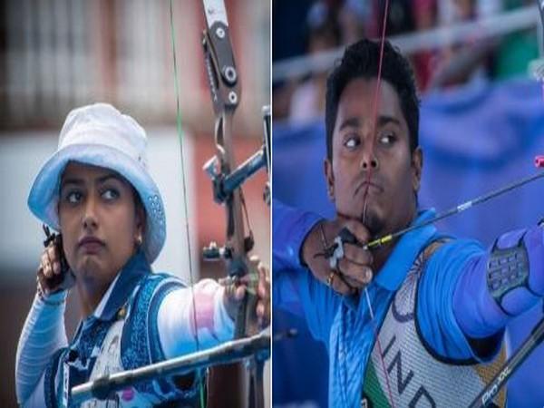 Deepika Kumari (left) and Atanu Das (right) (Photo/ SAIMedia Twitter)
