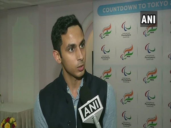 Arhan Bagati, Awareness and Impact Ambassador of Paralympic Committee of India, speaking to ANI in New Delhi on Sunday.