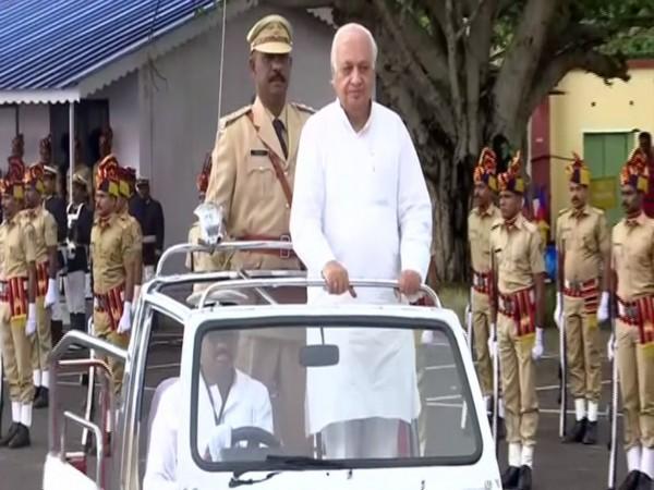 Governor-designate Arif Mohammad Khan arrives in Trivandrum on Thursday. Photo/ANI