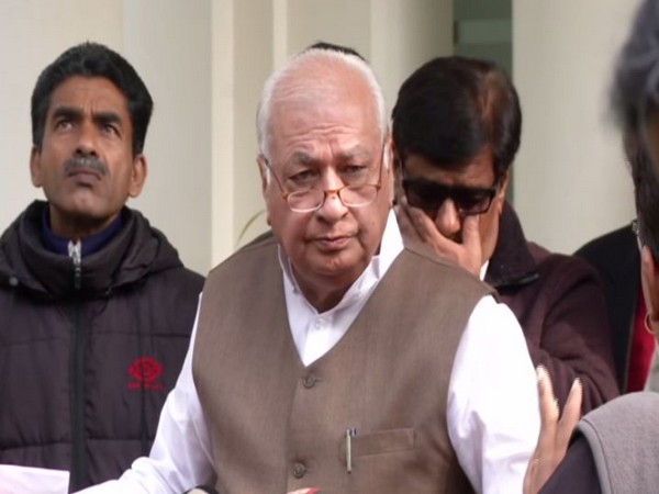 Kerala Governor Arif Mohammad Khan speaking to reporters in New Delhi on Friday. Photo/ANI