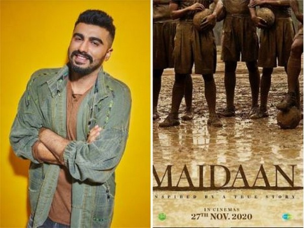 Arjun Kapoor shares the teaser poster of his upcoming movie 'Maidaan'