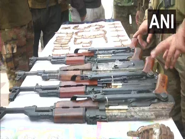 Security forces recover arms and ammunition in J-K's Poonch (Photo/ANI)