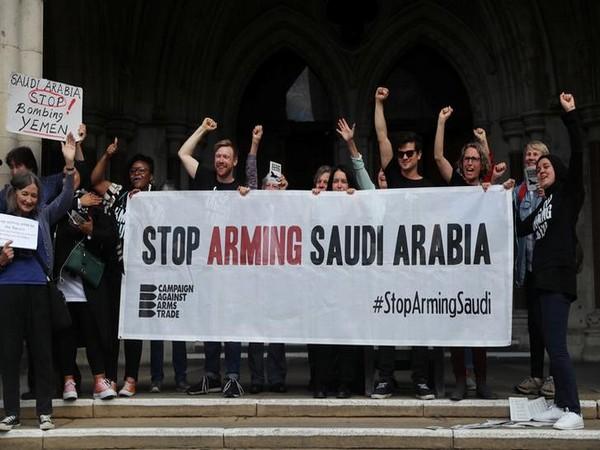 Demonstrators react outside the Court of Appeal on Thursday