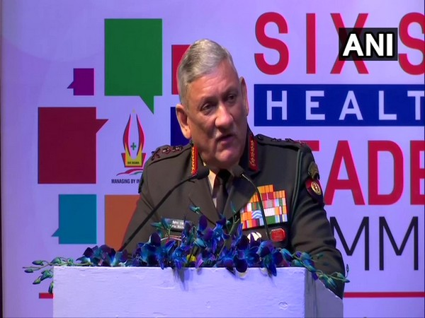 Army Chief General Bipin Rawat addressing an event in New Delhi on Thursday. Photo/ANI