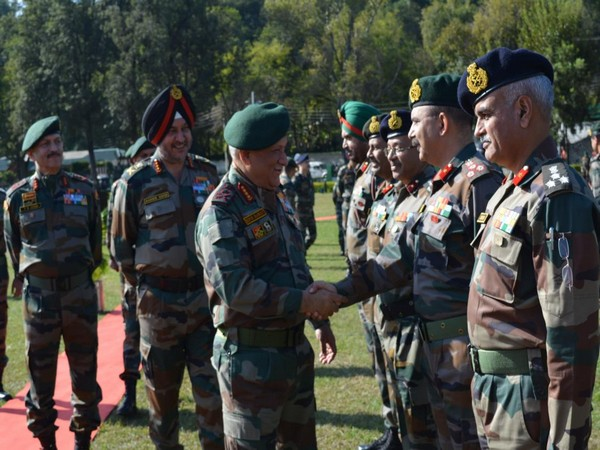 Army Chief General Bipin Rawat on Saturday visited the Northern Command headquarters (Photo tweeted by Northern Command)