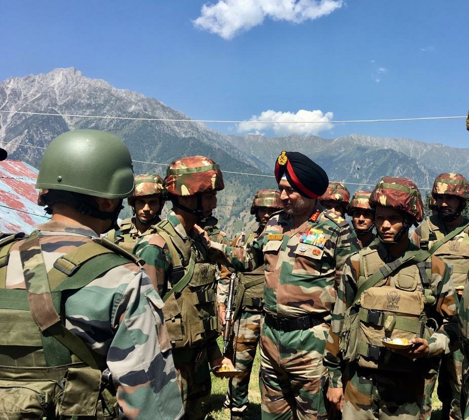 Northern Army Commander Lt Gen Ranbir Singh reviewed the security situation in Valley on Friday.