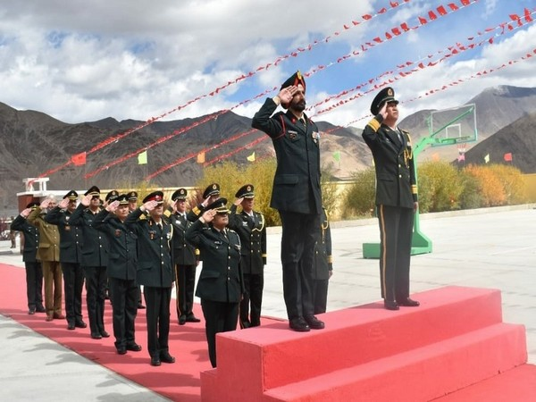 A Ceremonial BPM was conducted on occasion of 'Chinese National Day' (Picture tweeted by Northern Command)