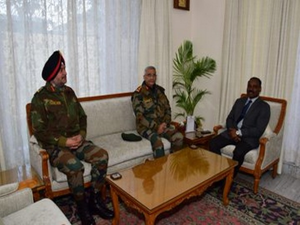 Army Chief General MM Naravane accompanied by Lt General Ranbir Singh, Northern Army Command, on Thursday called on Girish Chandra Murmu, Lt Governor of UT of Jammu and Kashmir in Srinagar.