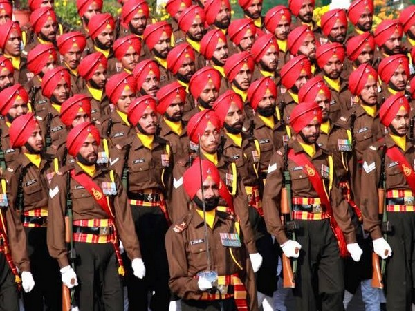 Indian Army's Sikh Regiment troops taking part in a parade. (Representative Image)