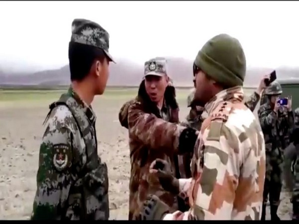 File Photo of India, China troops' face-off in Ladakh sector.
