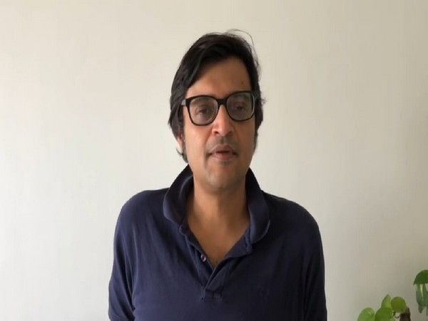 Journalist Arnab Goswami in a video message on Friday. Photo/ANI