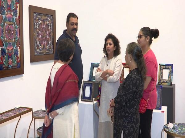 Exhibition showcasing Enamel artwork organised in Bikaner House in New Delhi [Photo/ANI]