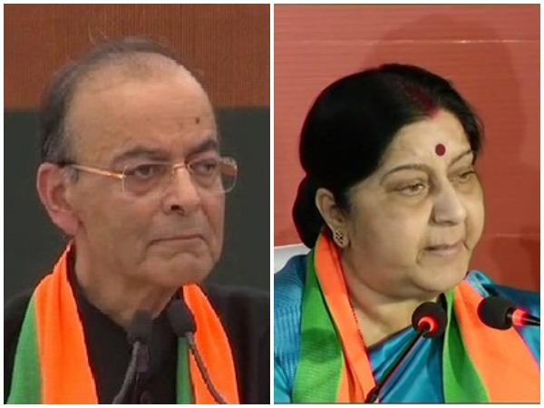 BJP leaders Arun Jaitley, Sushma Swaraj. File photo