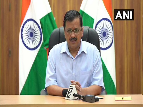 Delhi Chief Minister Arvind Kejriwal speaking to media on Friday. [Photo/ANI]