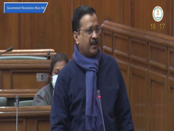 Delhi Chief Minister Arvind Kejriwal speaking in the Assembly on Thursday [Photo/Delhi Assembly]
