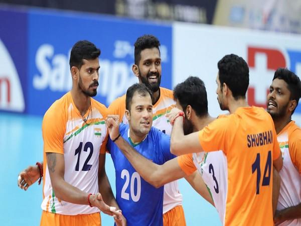 India beat Kuwait (Image Asian volleyball confederation)