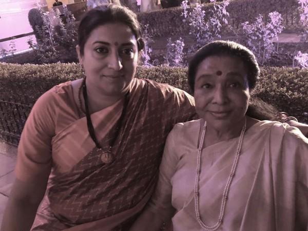 Smriti Irani and Asha Bhosle