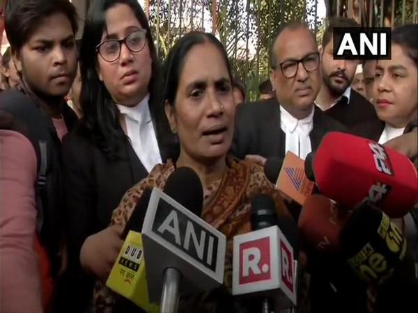 Nirbhaya's mother Asha Devi speaking to media in New Delhi on Thursday. Photo/ANI